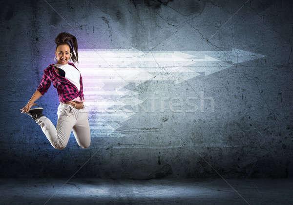 Dansçı görüntü genç kadın dans hip-hop kolaj Stok fotoğraf © adam121