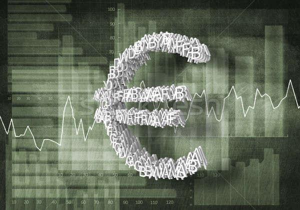 Euro valuta tasso grande simbolo grafici Foto d'archivio © adam121