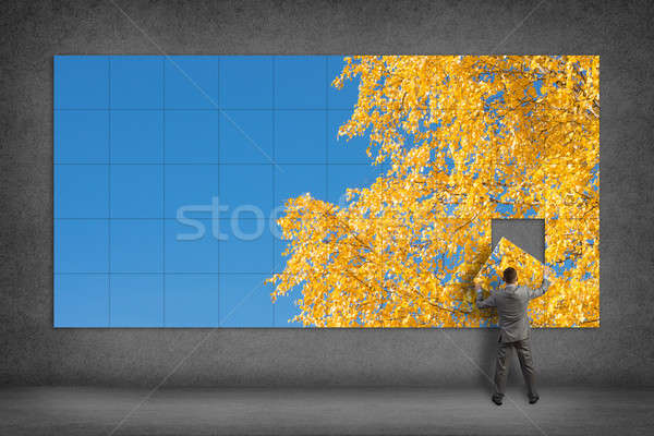 businessman collects the image Stock photo © adam121