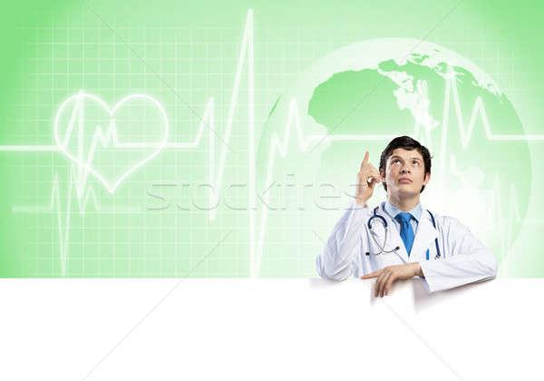 医師 バナー 小さな ハンサム 白 ストックフォト © adam121