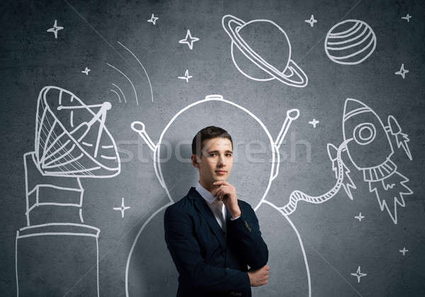 Stock photo: Dreaming to explore space