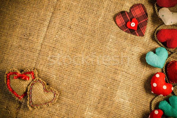 Fai da te cartolina amore cuori rosolare Foto d'archivio © adam121