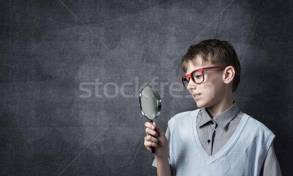 Zdjęcia stock: Ciekawy · cute · chłopca · patrząc