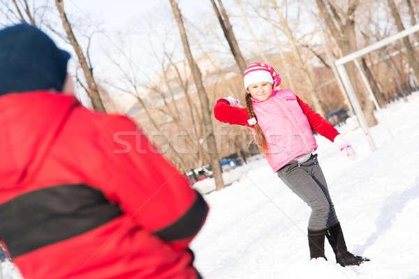 Bambini inverno parco giocare tempo esterna Foto d'archivio © adam121