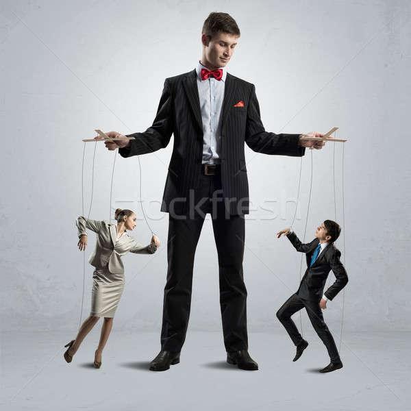 Fantoche negócio pessoas de negócios controlar homem trabalhar Foto stock © adam121