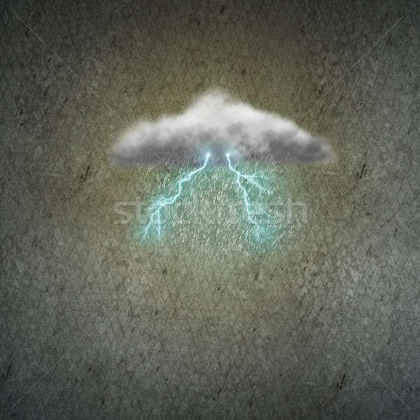 Cloud and raindrops Stock photo © adam121