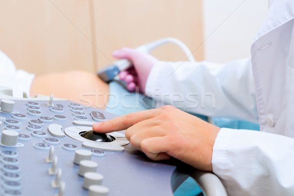 hand and abdominal ultrasound scanner Stock photo © adam121