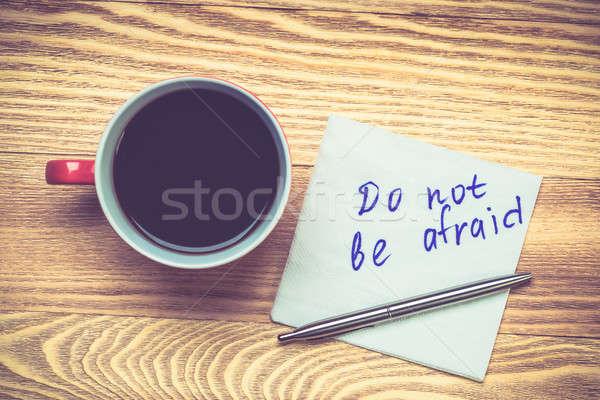 Romântico mensagem escrito guardanapo xícara de café caneta Foto stock © adam121