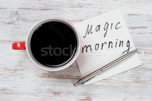 üzenet írott szalvéta csésze kávé szeretet Stock fotó © adam121