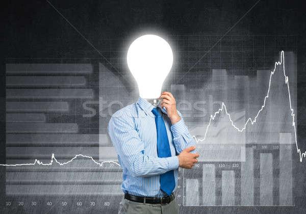 Man thinking over his idea Stock photo © adam121