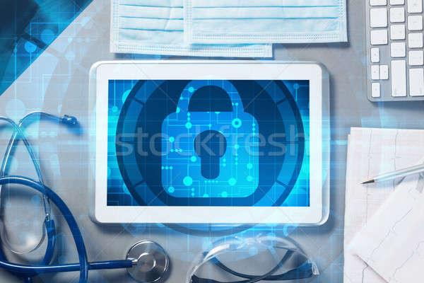Top arts werkplek geneeskunde Stockfoto © adam121