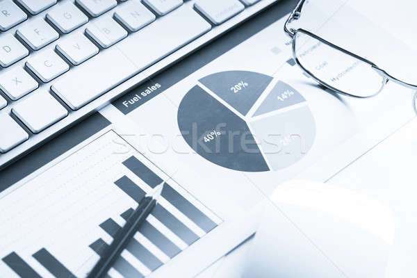 Preparing average sales report Stock photo © adam121