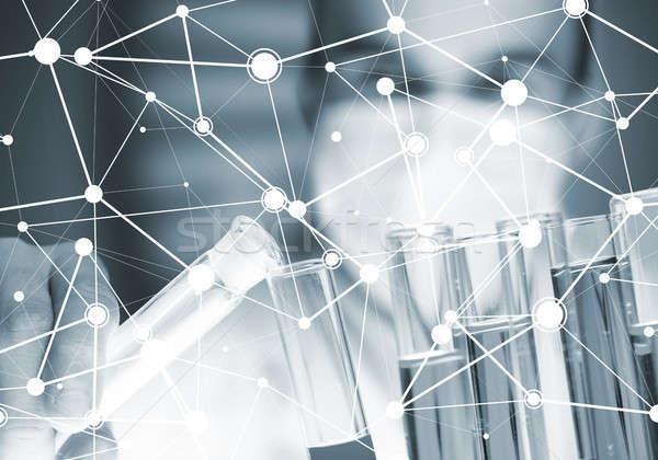 Stockfoto: Portret · geconcentreerde · mannelijke · wetenschapper · werken · laboratorium