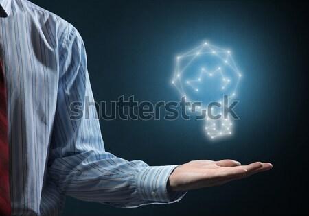 Idea conexión interacción empresario mano Foto stock © adam121