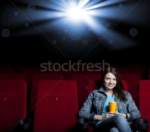 женщину кино красивая женщина фильма театра смотрят Сток-фото © adam121