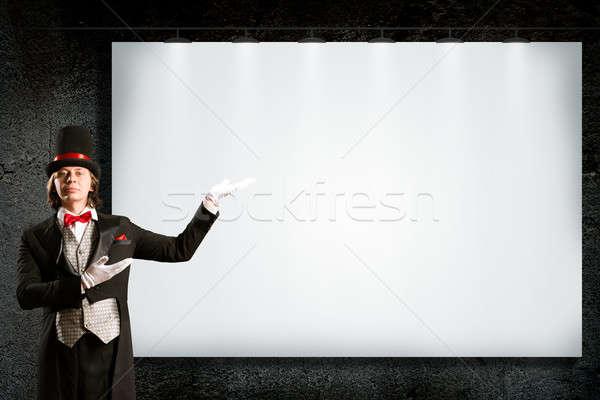 Mago superior sombrero empate puntos banner Foto stock © adam121
