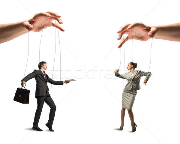 two puppet businessman Stock photo © adam121