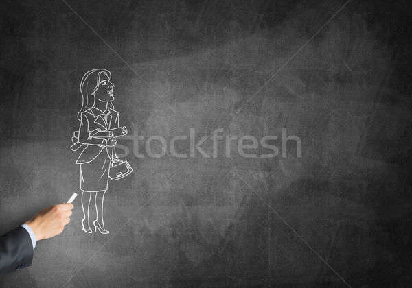 Caricature of businesswoman Stock photo © adam121