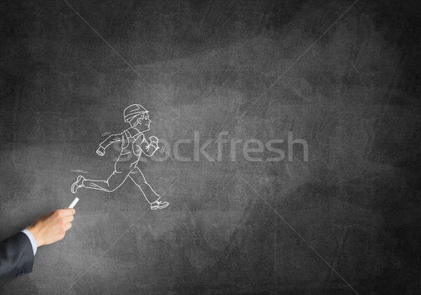 Caricature of builder man Stock photo © adam121
