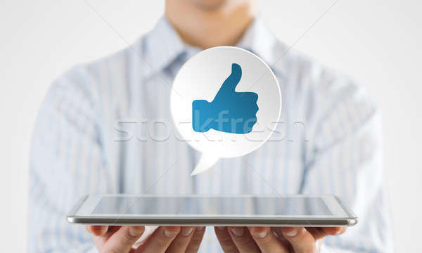 Social net like icon Stock photo © adam121