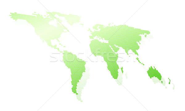 Carte du monde image blanche affaires internet technologie Photo stock © adam121