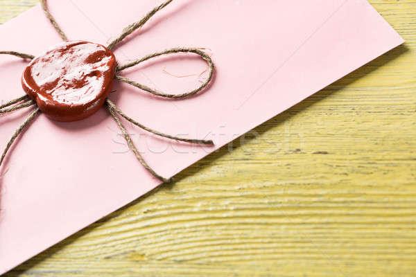 Brief zegel tabel oude envelop wax Stockfoto © adam121