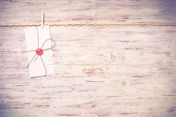 Mail kopercie liny wiszący tekstury Zdjęcia stock © adam121
