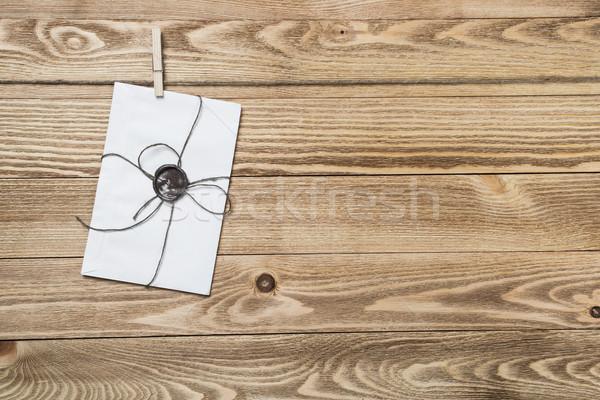 Mail envelope on rope Stock photo © adam121