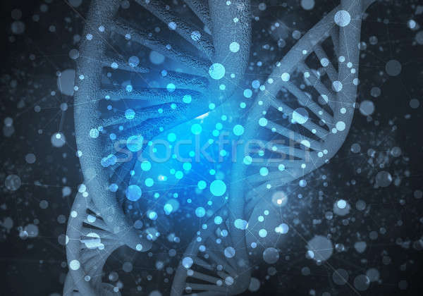 DNA molecules background, 3D rendering Stock photo © adam121