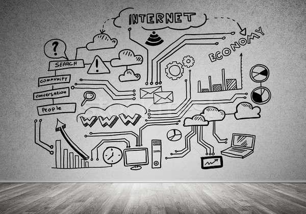 Stratégie d'entreprise planification chambre intérieur affaires bureau Photo stock © adam121
