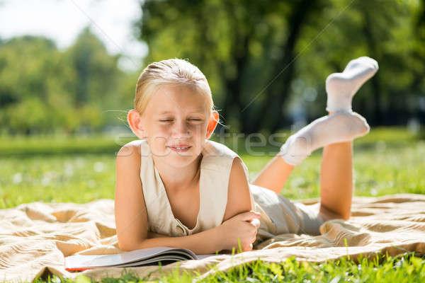 Stockfoto: Zomer · weekend · park · weinig · cute · meisje