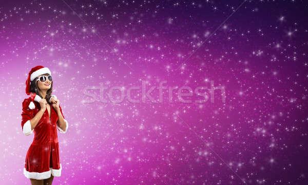 Meisje pak jonge brunette vrouw Stockfoto © adam121