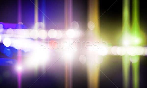 Etapa luzes imagem turva luz discoteca Foto stock © adam121