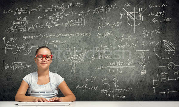 Weinig school genie meisje leeftijd Rood Stockfoto © adam121