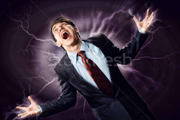 Violent homme furieux bras personne Photo stock © adam121