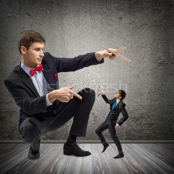 марионеточного бизнеса деловой человек Веревки человека работу Сток-фото © adam121