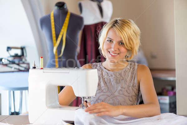 Seamstress at work Stock photo © adam121