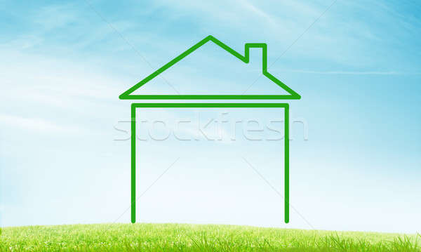 House on sky landscape Stock photo © adam121