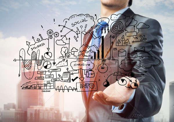 Hombre negocios ideas cerca vista empresario Foto stock © adam121