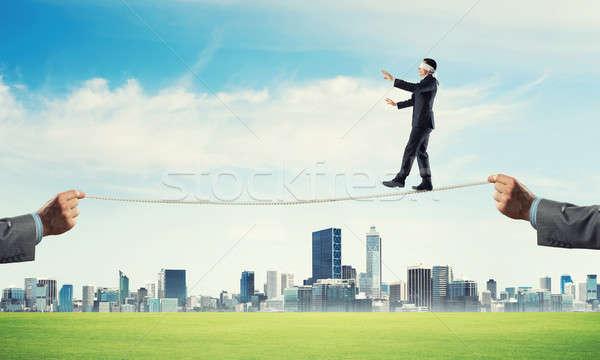 бизнеса риск поддержки человека бизнесмен Сток-фото © adam121