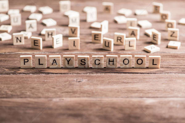 wooden elements with letter collected word playschool Stock photo © adam121