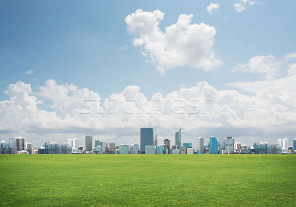 Natural landscape view of skyscrapers and urban buidings as symbol for modern lifestyle Stock photo © adam121
