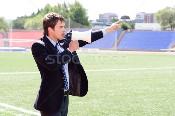 athletic trainer instructs the team Stock photo © adam121