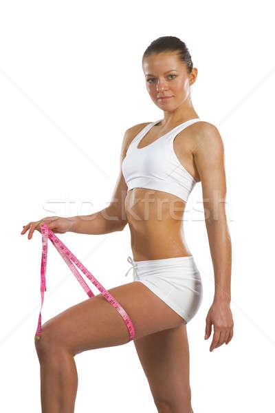 アスレチック 女性 大腿 画像 小さな ストックフォト © adam121