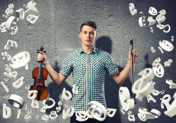 Man violinist Stock photo © adam121