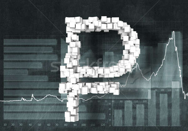 Rouble currency rate Stock photo © adam121