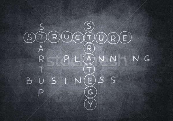 Krijt kruiswoordraadsel business Blackboard school Stockfoto © adam121