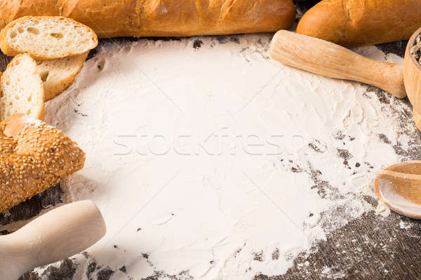 flour and white bread Stock photo © adam121