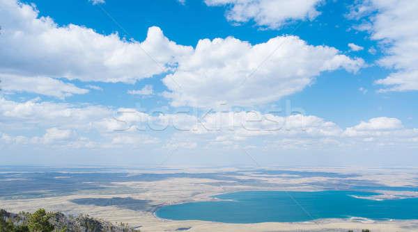 Казахстан живописный природного пейзаж синий дерево Сток-фото © adam121