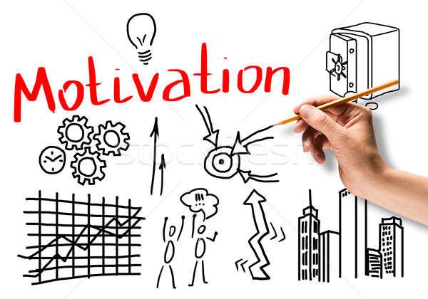 モチベーション ビジネス 手 図面 鉛筆 ストックフォト © adam121